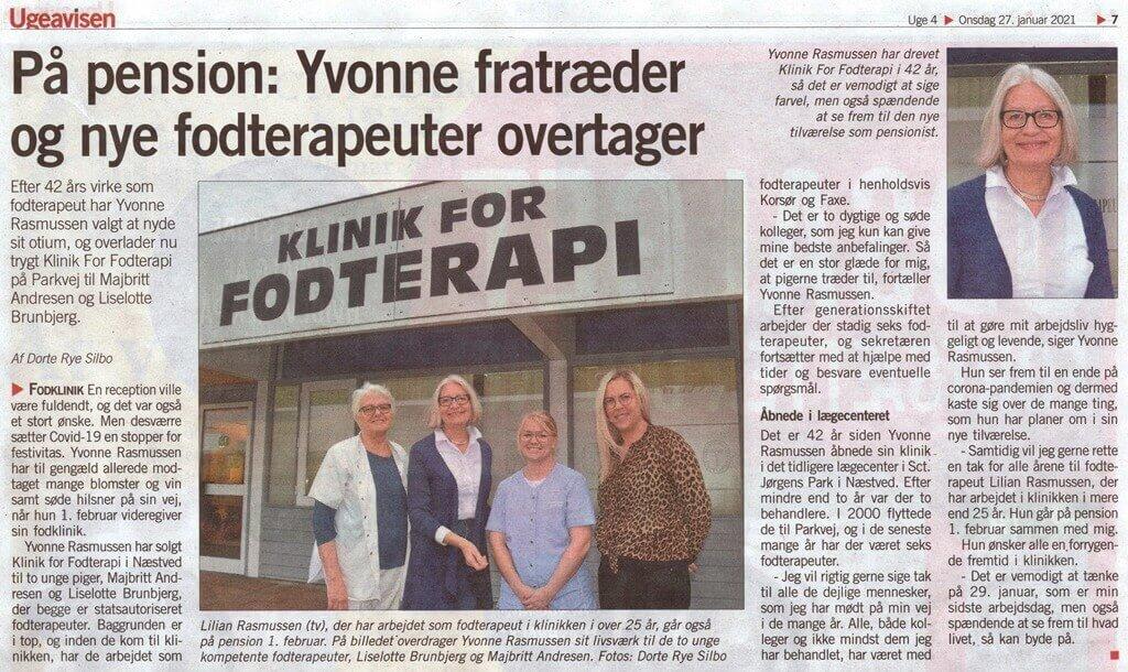 Ny ejer hos Klinik for fodterapi Parkvej 46B 4700 Næstved